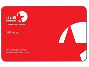 Club 5* kartica - obnovite vaše članstvo