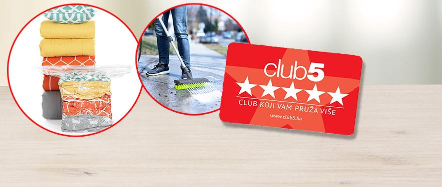 Samo uz Club5* karticu za 1 KM